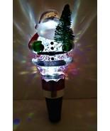Wine Stopper Lighted Water/glitter Santa - $9.00
