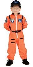 Super Hero Cute Orange Flight Suit w/Patches & Cap Astronaut Costume, Rubies - $29.99