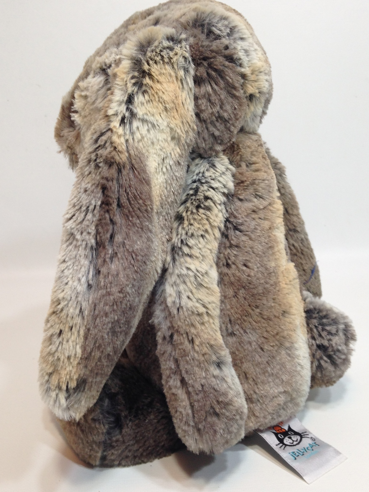 "Jellycat Bunny Rabbit Woodland Babe Plush Toy Gray Brown 12"" Stuffed Animal"