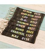 KPOP EXO Keychain CHANYEOL Keyring SEHUN BAEKHYUN Laser Lanyard XIUMIN C... - $0.99