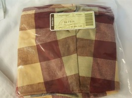 Longaberger Fabric Liner For LARGE TWIST Basket Woven Traditions Everyday Plaid - $5.00