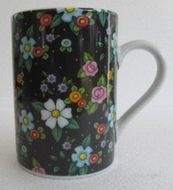 2002 At Home With Mary Engelbreit ME - Black Flower Floral Porcelain Cof... - $17.99