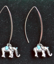 Hoop earrings, large hoop earrings, elephant earrings, good luck jewelry... - $13.99