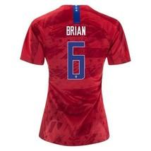 NIKE MORGAN BRIAN #6 USA WORLD CUP US WOMEN'S AWAY RED WOMENS SOCCER JERSEY - $99.99