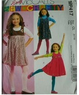 McCall's MP417 Easy Sew Girls Jumpers Size 6-7-8 New Uncut - $12.86