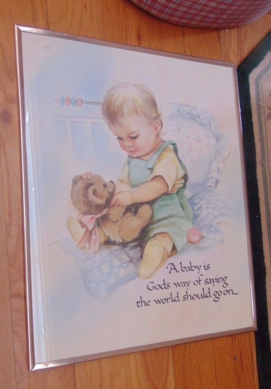 "Baby Boy In Crib-1993 ""A Baby Is God's Way Of Saying The World Should Go On"""