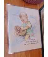 """Baby Boy In Crib-1993 """"A Baby Is God's Way Of Saying The World Should Go... - $3.50"""