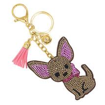 PINK BLING CRYSTAL Couture Animal Chihuahua Dog Key Chain Rings Handbag ... - $15.63