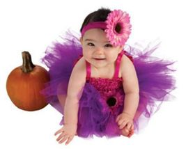 Infant Pink and Purple Tutu Dress Size 6-9 Months   - $19.00