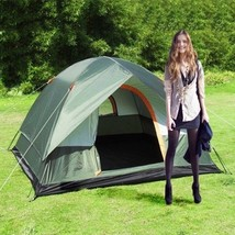 Hiking Tents Pop Up Large Windproof Camping Waterproof Oxford Cloth Dual... - $105.16