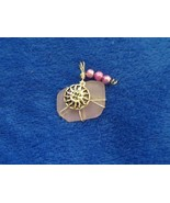 PINK SEA GLASS Handcrafted Pendant With Sunshine Dangle - $19.59