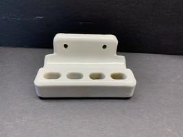 Vintage White Porcelain 4 Hole Tooth Brush & Paste Holder Flush wall mount - $19.00