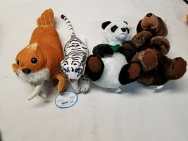Lot of Four (4) NEW with Tags Tiger, Walrus Bear and Panda Bear See Pictures - $37.83