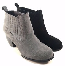 Restricted Warwick Suede Leather Thick Heel Pull On Ankle Bootie Choose ... - $48.30
