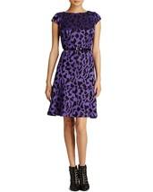 [29 96]Anne Klein Women's Cap Sleeve Belted Printed Swing Dress, Iris/Bl... - $14.77