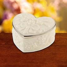 Lenox Wedding Heart Shaped Favor Boxes Set of 10 Roses Platinum Shower G... - $67.00