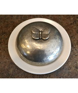 Arte Italica Giardino Butterfly Covered Serving Dish Italian Pewter and ... - $168.00