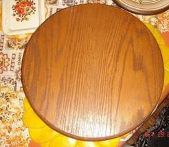 VTG COUNTRY COTTAGE FOLK ARTS CRAFTS BIG SOLID OAK TABLE CENTERPIECE LAZ... - $187.99