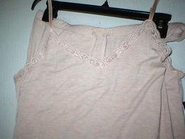 NWT New Designer Natori Pajamas Pink Tan Beige Womens PJ M Cami Pants Top Set image 3