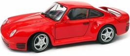 Porsche 595 1/24 Scale Diecast Metal Model - RED - $29.69