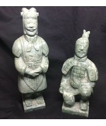 Vintage Marble Carved Terracotta Warrior Figurines - $865.69