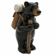 Pacific Giftware Animal World Black Bear Hiking Resin Figurine Home Decor - $19.79