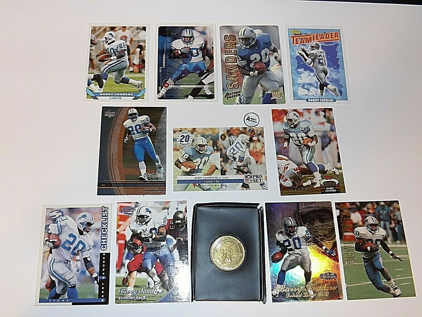 Barry Sanders #20 RB Detroit Lions Football Trading Cards AA-191698 Vintage Col
