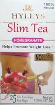 Hyleys 100% Natural Slim Green Tea Pomegranate Flavor, 25 Teabags -Please Choose - $10.99+