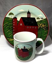 "COUNTRY LIFE SCHOOL HOUSE 12 Oz. MUG &  8"" PLATE  WARREN KIMBLE 1998 SAKURA - $6.92"