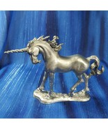 Family of Unicorns Lady Unicorn Mare Pewter Figurine US Made Ray Lamb - $56.09