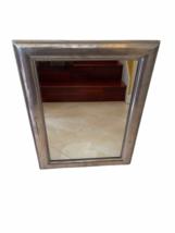 "Framed Silver Wall Mirror 23"" x 30"" Original Price $199 Rectangular Rectangle image 9"
