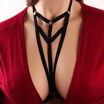 Harness Bra Women Alluring Harness Bra Elastic Cage Bra Strappy Hollow O... - $10.90