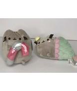 """GUND Pusheen Candy Cane Mermaid Set of 2 5"""" Stuffed animal Plush - $27.00"""