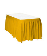 Touch of Color Easy Stick Plastic Table Skirt, 14-Feet, - harvest yellow - $6.92
