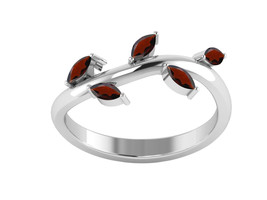 0.60Ct Beautiful Garnet 925 Sterling Silver Ring Shine Jewelry Size-7.5 ... - €12,08 EUR
