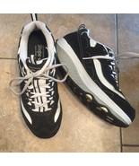 Sketchers Shape Ups Sneakers  Black Leather Nubuck Fitness Walking Women... - $32.51