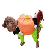 NACOCO Dog Costume Carrying Pumpkin with Doll Pet Cat Costumes Funny Hal... - $16.82