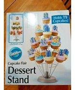 """Cupcake Flair Dessert Stand Silver 12""""X18"""" Holds 19 Cupcakes 070896376664 - $13.85"""