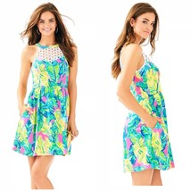 Size 10 NWT Lilly Pulitzer Kinley Dress Pink Sunset Local Flavor Style28... - $98.99