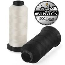 Polystar Heavy-Duty #69 Bonded Nylon Sewing Thread - 1500 Yard Spool - W... - $11.78