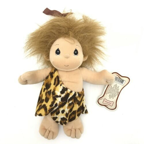 "VTG Plush Cavewoman Tender Tails Enesco 11"" Caveman Stuffed Doll Cave Girl RARE - $11.88"