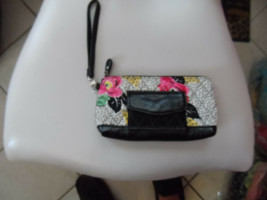 Vera Bradley wristlet in black multicolor quilted pattern - $13.50
