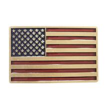 New Vintage Bronze Plated Enamel USA American Flag Belt Buckle Gurtelsch... - $8.39