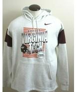 Nike Mens Virginia Tech Hokies Hooded Sweatshirt Grey Maroon Orange Size... - $50.99