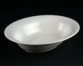 Wedgwood Nantucket Oval Vegetable Serving Bowl, All White Basketweave England - $73.50