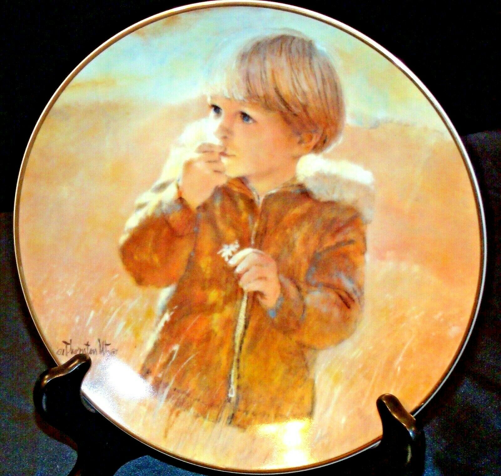 """Autumn Wanderer"" by Thornton Utz Plate with Viletta Box USA AA20-CP2230 Vintage"