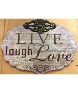 "1 WOODEN WALL FRAME, LIVE LAUGH LOVE, appox 10"" x 13.5"" - $11.87"