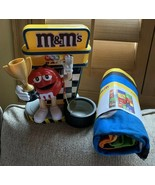 M&M's Nascar Formula 1  Trophy  Candy Dispenser With FREE FLEECE BLANKET... - $123.75