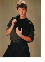 C Thomas Howell Michael Jackson teen magazine pinup clipping holding a hat