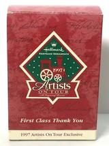 Hallmark Keepsake Ornament 1997 Artists on Tour First Class Thank You Red Bird image 2